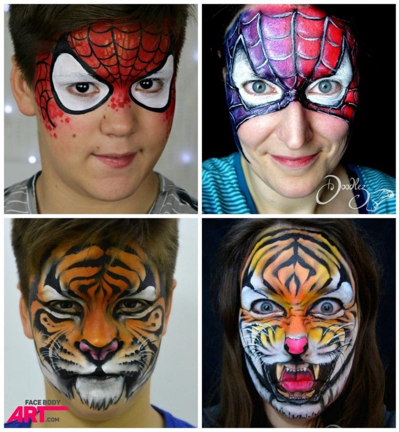 Before and after by Nanette Gries - International Face Painting School