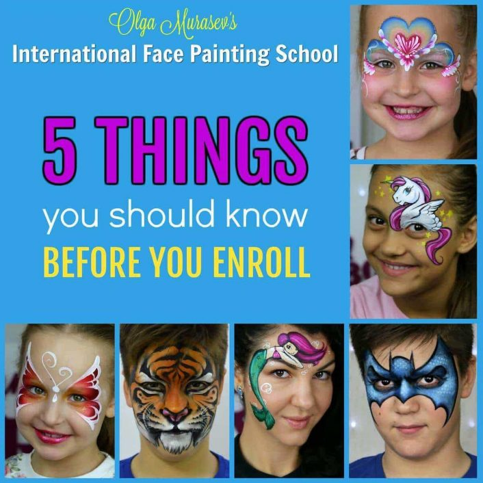 5 things you should know before you enroll at the International Face Painting School