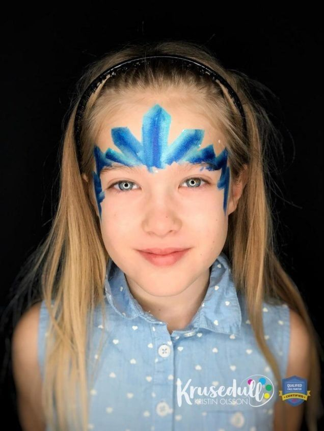 Arctic Ice Princess - face painting design - step 4