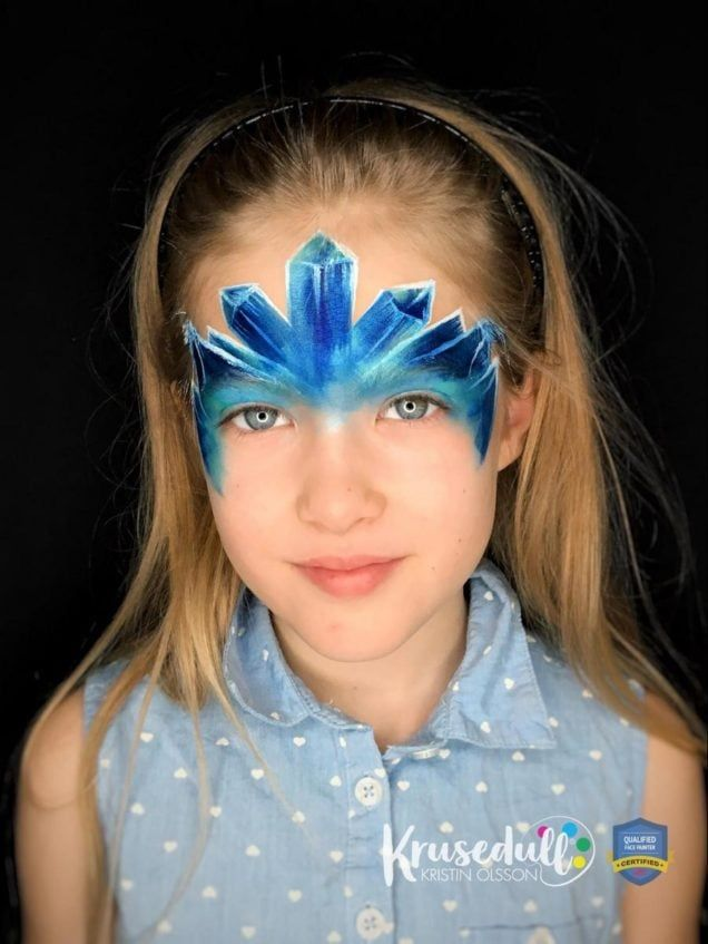 Arctic Ice Princess - face painting design - step 6