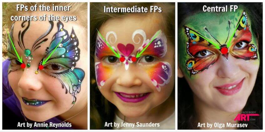 Butterflies - face painting - focal points