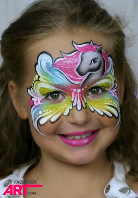 Pony mask design - International Face Painting School
