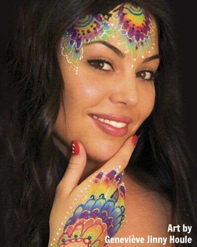 Glitter gel in face painting