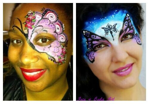 Highlights and shadows in face painting