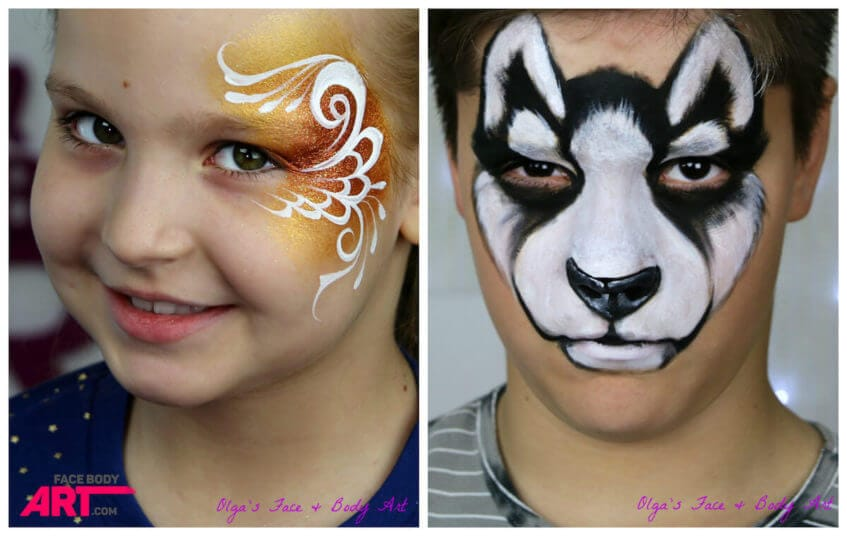 Husky and cheek art face painting