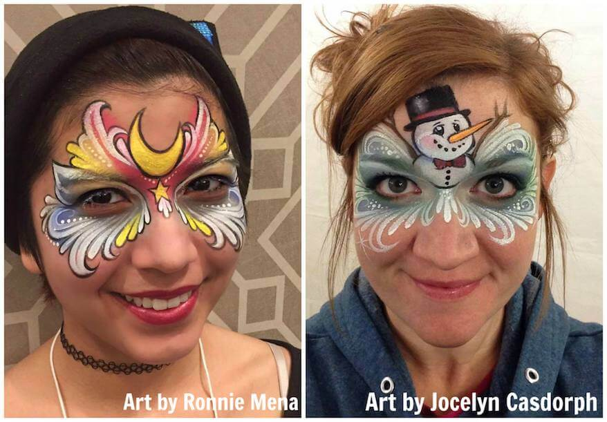 Face painting designs - Ronnie Mena and Jocelyn Casdorph