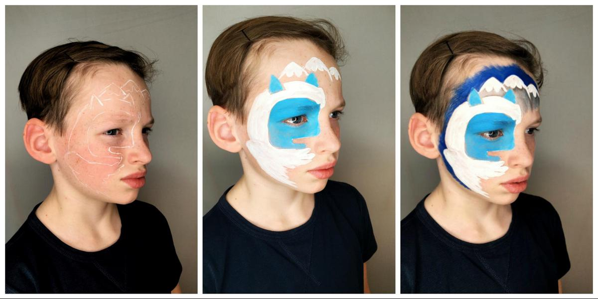Yeti (Snow Monster) face painting design