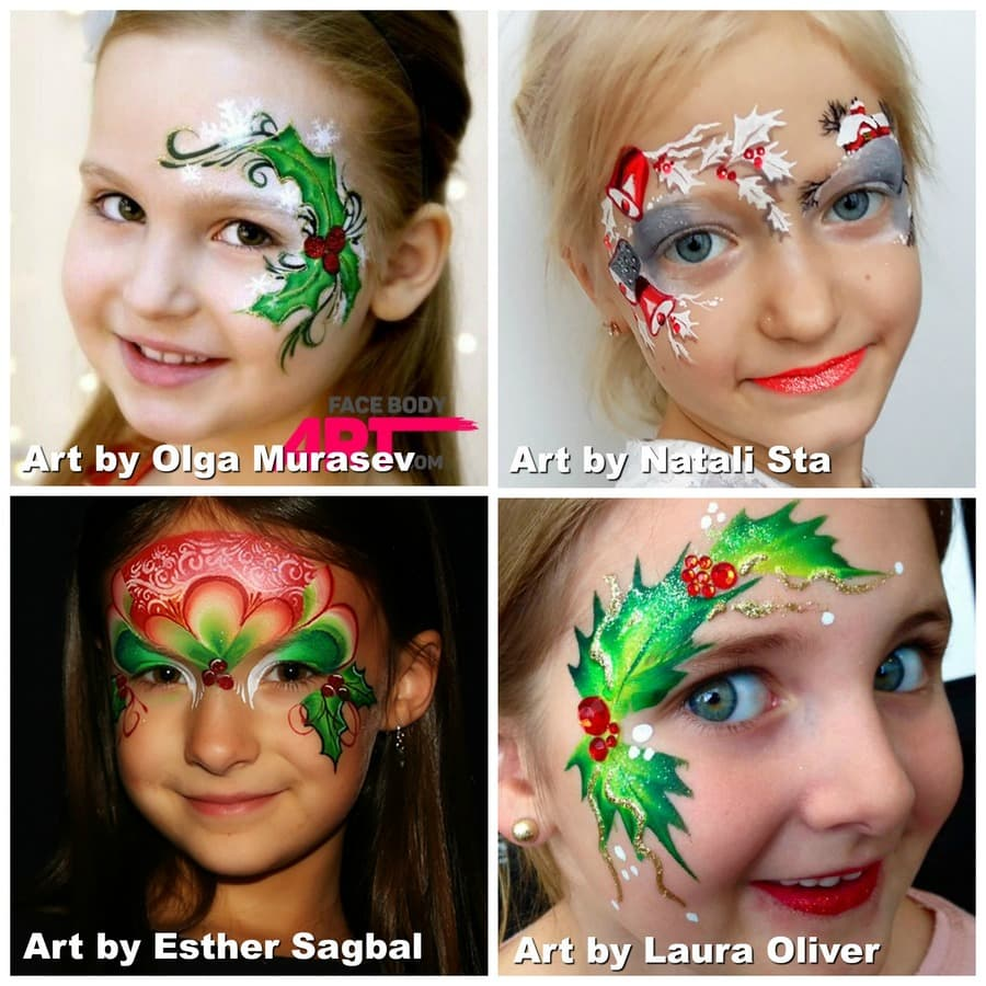 Holly Berries face painting
