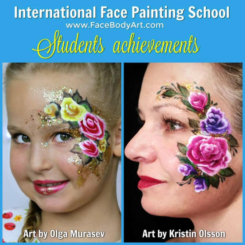 Kristin Olsson roses face painting