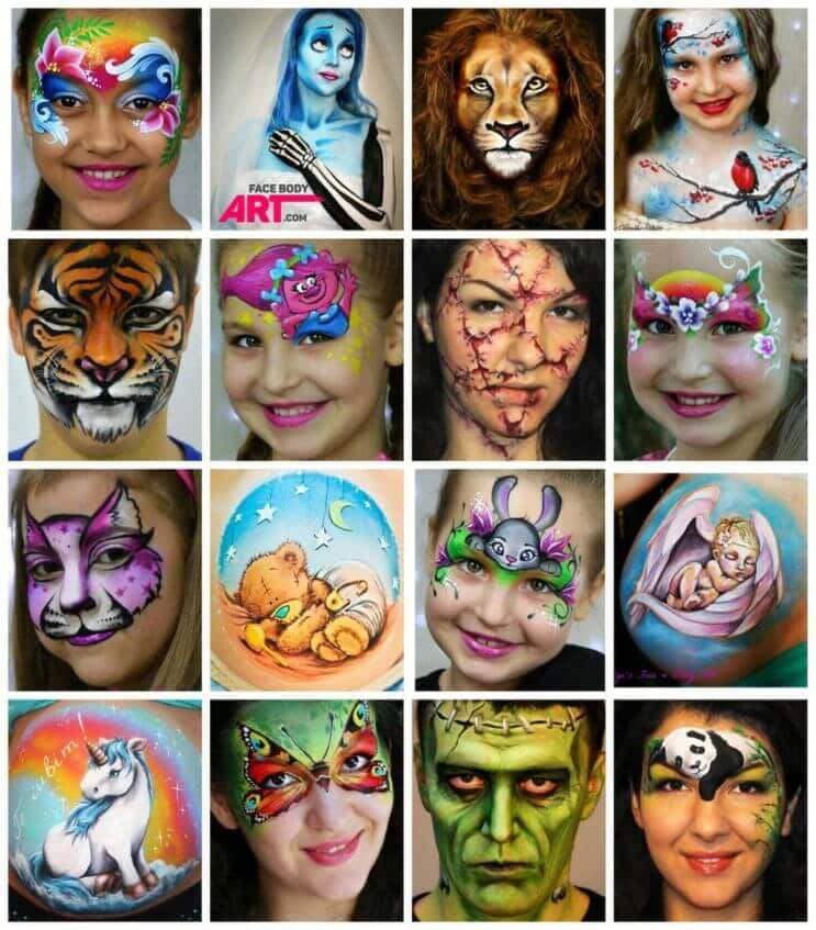 Olga Murasev - face and body painting works