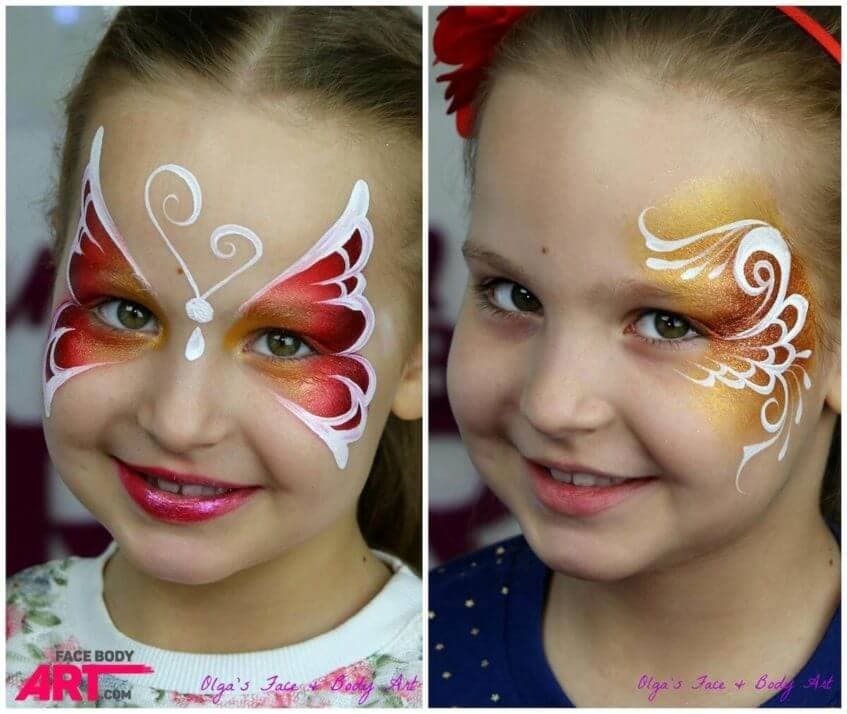Perfect bytterfly and linework in face painting - International Face Painting School