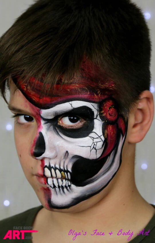 Skull - face painting design