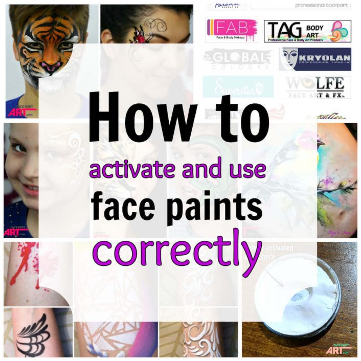 How to activate face paints to get amazing results