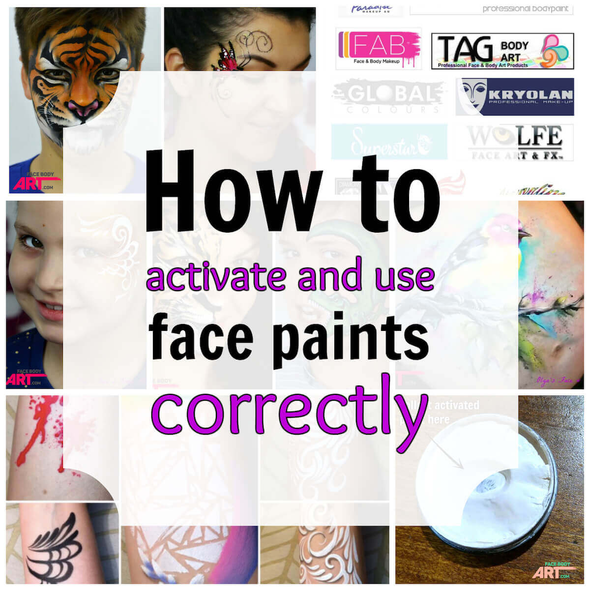 How to activate and use face paints correctly for How to apply face paint